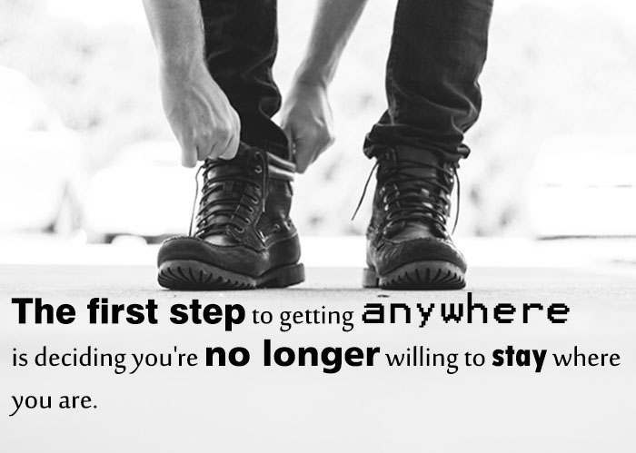 chnage your life steps forward